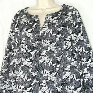 Talbots Tunic Top Shirt Women Plus Size 2X Black